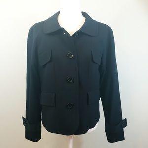 Pendleton black button down wool blazer Sz 12P